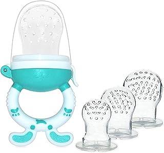Babyvoeding + 3 reservekoppen (3 verschillende maten), 3 fopspenen voor fruit, bijttanden, van siliconen, BPA-vrij, ideaal...