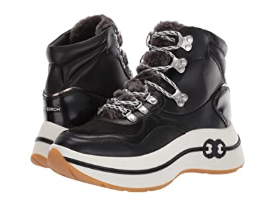Tory Burch Gemini Link Platform Hiking Boot (Black/Black) Women