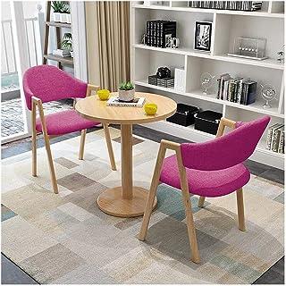 Table de salle à manger au design moderne avec table et chaises de 60 cm - Table ronde - Pour la maison, le jardin, le bal...