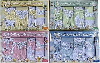 Cadeau Bebe naissance 15 pièces Ensemble naissance 0/3 mois garçons ou filles nouveaux nés ou cadeau pour la fête prénatal...