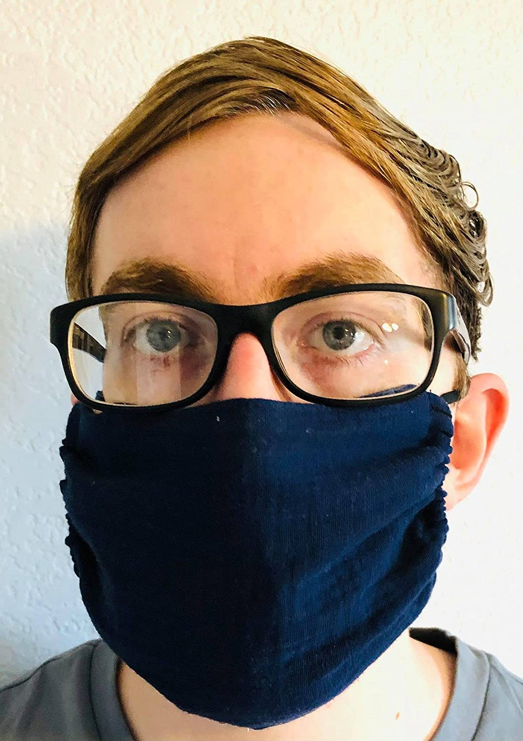 Single Layer Face Mask Navy F 25% OFF Our shop OFFers the best service Gauze Breathable Blue