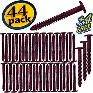 Window Shutters Panel Peg Lok Pin Screws Spikes 3 inch 48 Pack Fasteners (Burgundy) Exterior Vinyl Shutter Hardware Strongest Made in USA