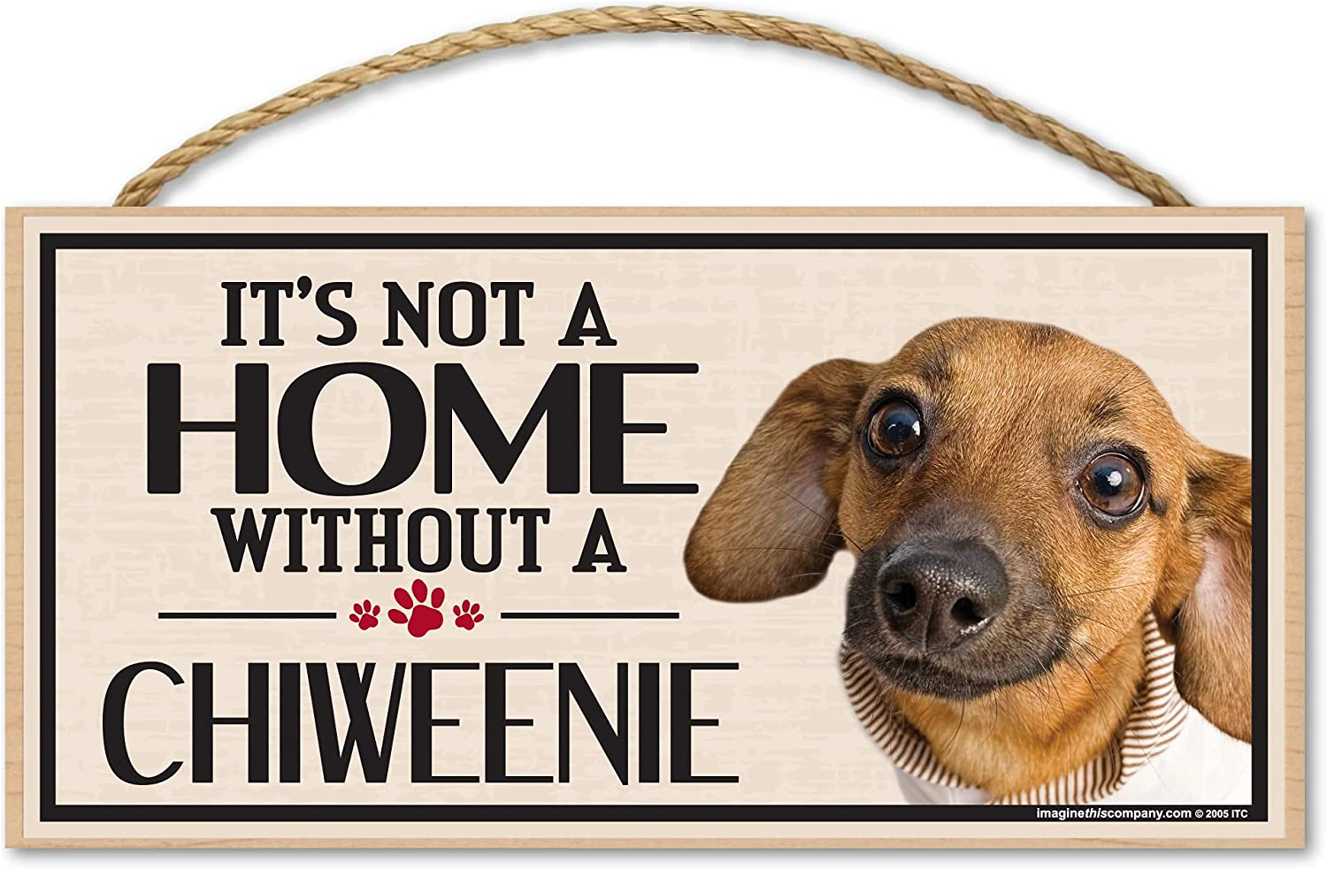 Imagine This ! Super beauty product restock quality top! Wood Sign for Dog Breeds Ranking TOP17 Chiweenie