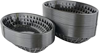 Bear Paw Products - Plastic Food Baskets - Oval Baskets - 36 Pack - Perfect for Fries, Burgers, Sandwiches, and More!