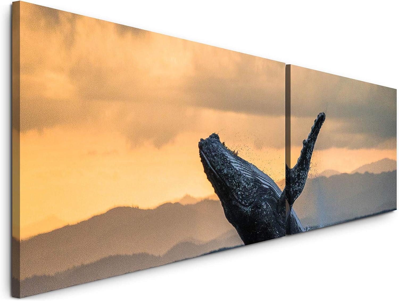 Paul Sinus Art Waal im Meer 180x50cm 180x50cm 180x50cm - 2 Wandbilder je 50x90cm - Kunstdrucke - Wandbild - Leinwandbilder fertig auf Rahmen B07NXG27FM 98ae93