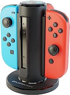 comprar comparacion Lioncast Joy-con Base de Cargador Cuadruple para Nintendo Switch, Estación de Carga 4 en 1 de Controlador con Puerto USB-C...