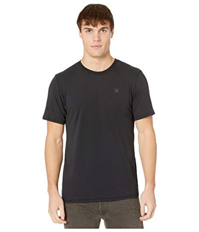 Hurley Dri-Fit Staple Icon Reflective Short Sleeve Tee (Black) Men