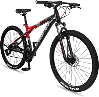 Spartan Ampezzo Men's MTB Mountain Alloy Bicycle, Red, 27.5 inch