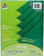 Pacon Card Stock, Emerald Green,  8-1/2