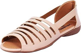 Footshez Best Women's Cream Casual Flat Sandals