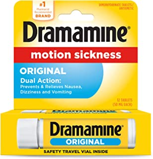Med Tech Products Dramamine Original Formula Motion Sickness Relief Tablets, 50 mg, 12 Tabs (Pack of 1)