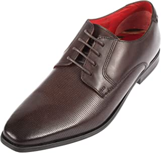 Base London Mens Charles Waxy Lace Up Derby Shoe