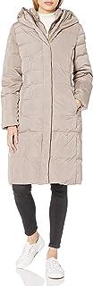 معطف التفتا النسائي من Cole Haan مع صدرية أمامية وقلنسوة مثيرة