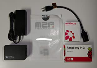 HiFiBerry Amp2 Complete Bundle - AMP2, RaspberryPi 3B, Mean Well 18v Power Adapter, Preflashed SD Card with Max2Play Including Licence, Case
