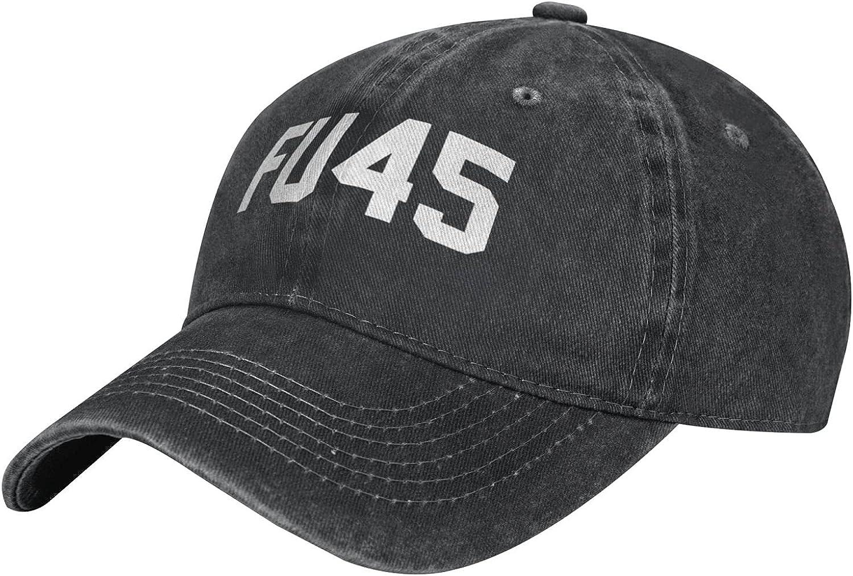 CURANI FU45 FCK You Trump Funny Anti-Trump Retro Cowboy Hat Baseball Caps Mens Womens Casquette Dad Hats