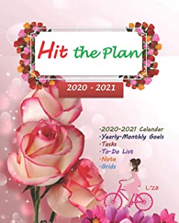 HIT THE PLAN 2020 Yearly-Monthly Planner To-Do List V.4: Yearly Monthly planner for ladies-teens/To-Do List notebook for t...