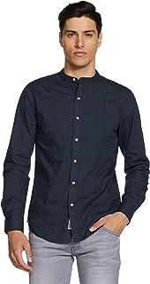 Amazon Brand - Inkast Denim Co. Men's Solid Slim Fit Full Sleeve Cotton Casual Shirt