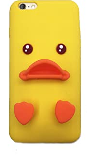 JJMG iPhone Case, 3D Cute Yellow Duck Soft Silicone Protective Case for iPhone Seven (iPhone 7)
