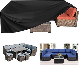 Kovshuiwe Garden Furniture Covers Waterproof,Patio Furniture Cover ,Rectangular Patio Table Cover- Upgraded 420D Heavy Dut...
