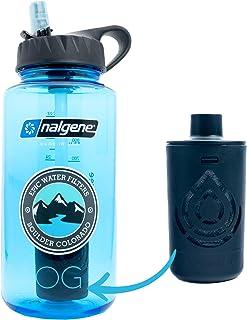 Epic Nalgene OG | Water Filtration Bottle | Wide Mouth 32 oz | American Made Bottle | USA Made Filter Removes 99.99% of Ta...