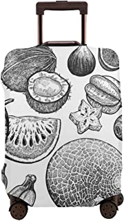 Baggage Covers Cartoon Red Carb Pattern Dark Washable Protective Case