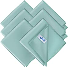 """MR.SIGA Ultra Fine Microfiber Cloths for Glass, Pack of 12, 35 x 40cm 13.7"""" x 15.7"""", Green, Pack of 6 - 13.7"""" x 15.7"""""""