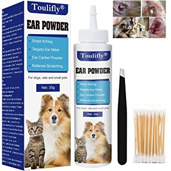 Earclear Canker And Ear Mite Powder For Dogs And Cats 100g Amazon Co Uk Pet Supplies