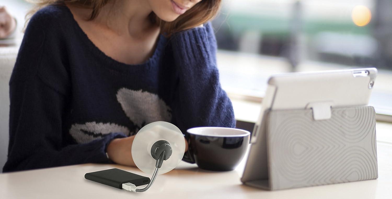 ARCTIC Breeze Mobile - Mini USB Desktop Fan with Flexible Neck, Portable Desk Fan for Home, Office, Silent USB Fan, Fan Speed: 1700 RPM - White