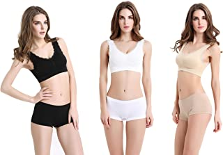 Mystiqueshapes  Genie Style Sports Seamless Bra w/Removable Pads, Free Magic Boost Pads