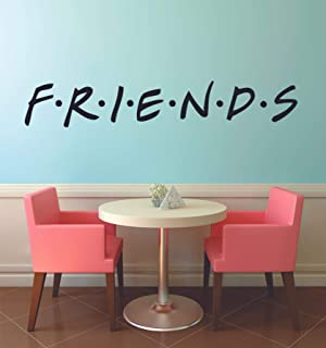 FRIENDS TV Show Series Logo Wall Stickers Television Quote Joey Rachel Decor Design for Boys/Girls Bedroom Entertainment Fans Rooms Home Art Murals Decals Wall Art Vinyl Decoration Size (10x20 inch)
