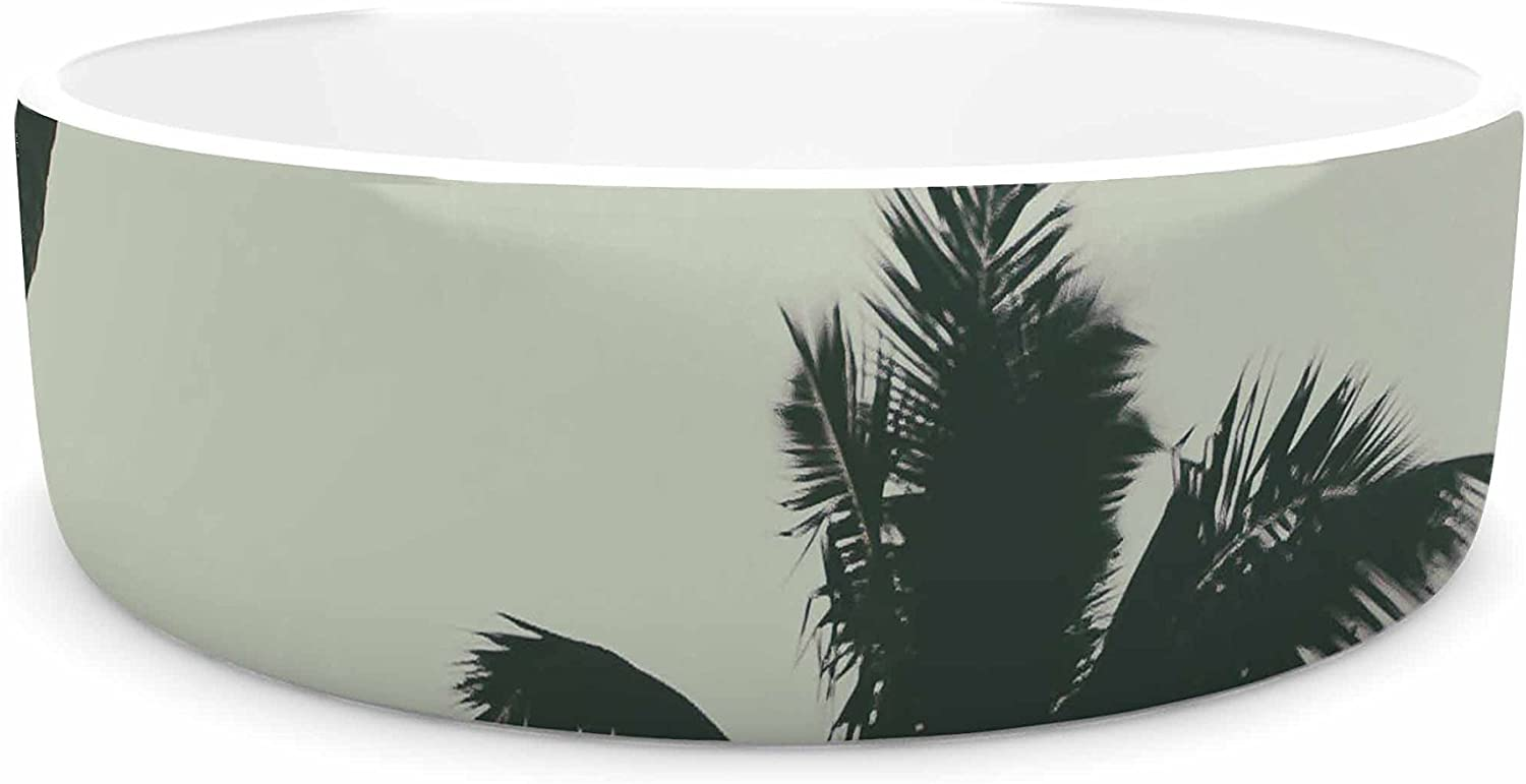KESS InHouse Mary Carol Fitzgerald Rise of Palms  Purple Photography Pet Bowl, 7
