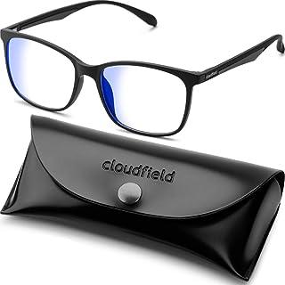عینک مسدود کننده نور آبی برای آقایان - قاب عینک شیشه ای مربع Nerd Black - عینک مخصوص رایانه ضد آبی Ray - عینک UV شفاف برای خواندن تلفن های تلویزیون
