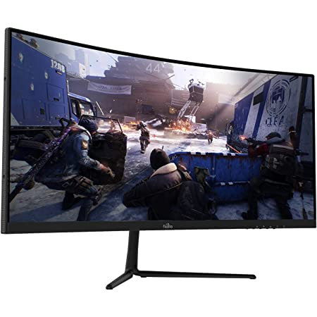 """29"""" Curved 100Hz LED Gaming Monitor Full HD 1080P Ultra Wide HDMI DP Ports with Speakers, VESA Wall Mount Ready(DP Cable Included)"""