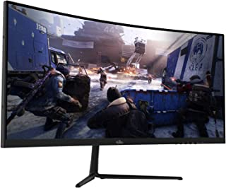 "29"" Curved 100Hz LED Gaming Monitor Full HD 1080P Ultra Wide HDMI DP Ports with Speakers, VESA Wall Mount Ready 2020 (DP C..."