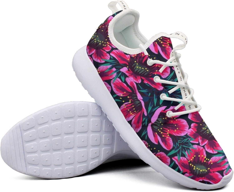 Pretty Women Flower Wallpaper colorful Net Novelty Sports Running shoes