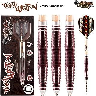 Shot! Darts Tribal Weapon-Steel Tip Dart Set-Center Weighted-90% Tungsten Barrels