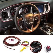 SEAMETAL Car Interior Moulding Trim Interior Trim Strip Red 32ft (red, 32ft)