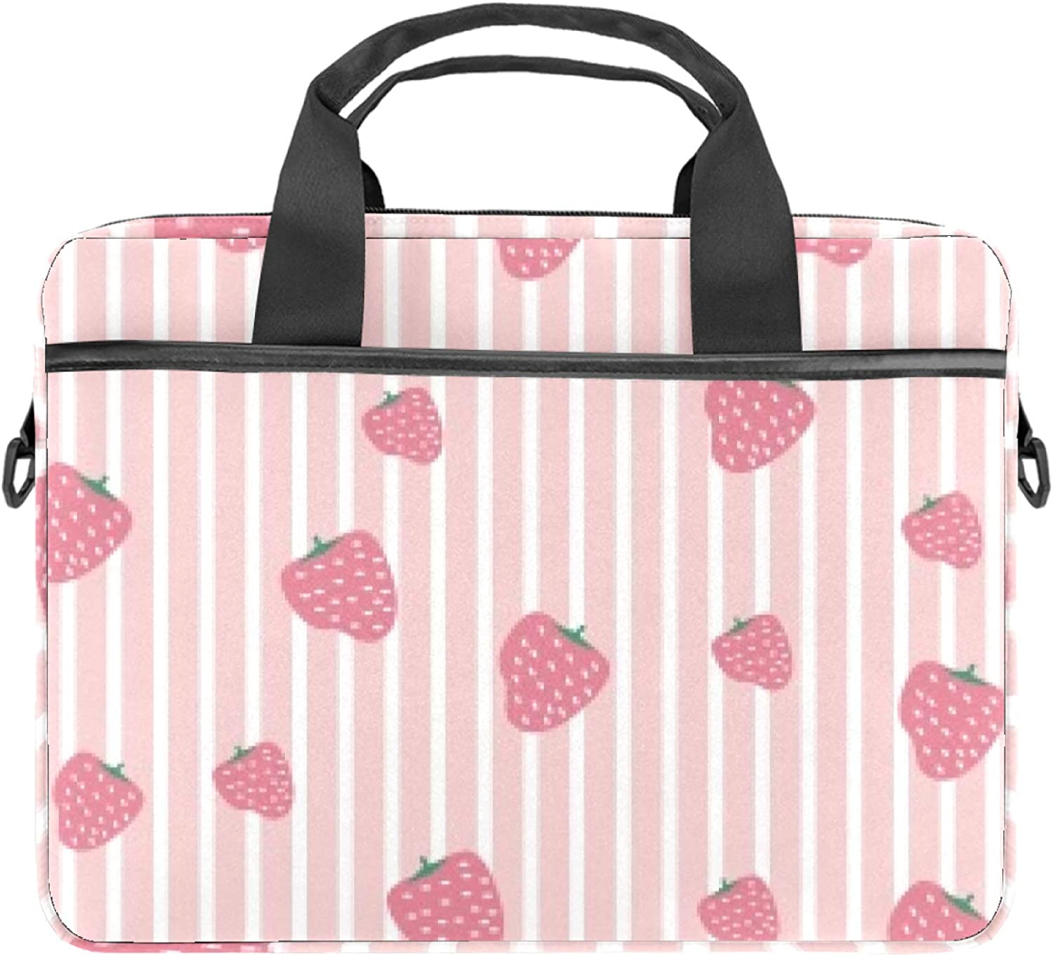 Strawberry Stripe 13.4-14.5 Courier shipping free inch Laptop Case Sl Canvas Selling and selling Briefcase