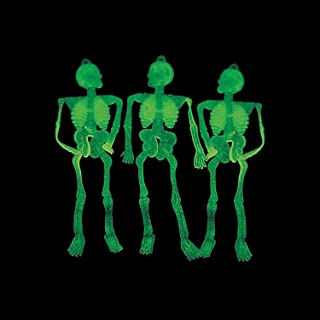 Fun Express Glow in The Dark Skeletons for Halloween (144 Pieces)