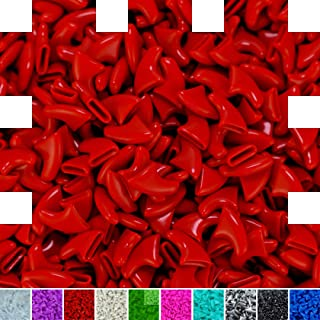 zetpo 100 pcs Cat Claw Caps for Cats Nail Claws with Adhesives and Applicators (M, Red)