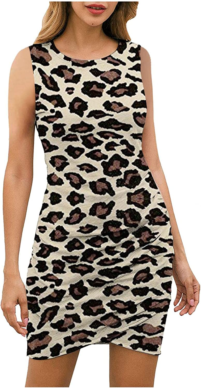 Lovely Nursling Women Short Dress, Fashion Women's Casual O-Neck Gradient Sundress Sexy Club Party Stretchy Mini Dresses