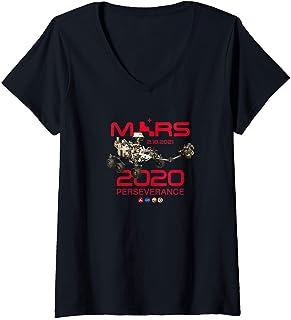 Femme Jour de l'atterrissage de Perseverance Rover Mars 2020 T-Shirt avec Col en V