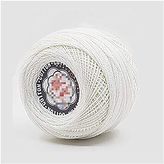 50g/ball 82 Layers Colorful Thin Lace Yarn Crochet Yarn Cotton Yarn Hand Knitting Thread Sewing Machine Thread (Color : 2)