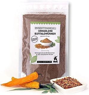 Insekten-Mehl - 100g gemahlene Buffalowürmer - über 50% Protein - Insekten Snack