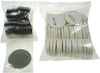 Sunshine 56mm Blank Badges & Buttons Parts for Badge & Button Making Machine (Holland-Pin Plastic-Back 100sets)