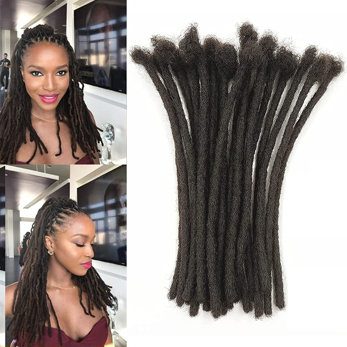 Max 87% OFF 100% Real Human Hair Dreadlock Extensions 60 Inches Don't miss the campaign 0.6c Locs 4