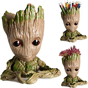 "Arbusb Flowerpot Tree-Pen Pot Tree Man with Depth is 3.5"",for Succulent Planter, Cute Green Plants Flower Pot, with Hole Pen Pot, Best Gifts for Kids Girls,Boys,Women (Love)"