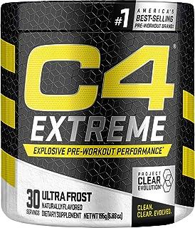 C4 Extreme Pre Workout Powder Ultra Frost | Sugar Free Preworkout Energy Supplement for Men & Women | 200mg Caffeine + Bet...