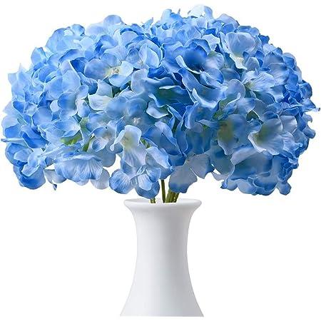 Flower Crown Petals Blue Hutch Hair Accessory Silk Hydrangea Scrapbook 4 Beaded Green Hydrangea Petals Millinery Flower Petals