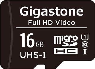 Gigastone マイクロSDカード 16GB Micro SD Card SD アダプタ付 ミニ収納ケース付 SDHC U1 C10 85MB/S 高速 micro sd カード Class 10 UHS-I フルHD 動画